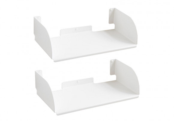 "Mensole modulari ""UBD"" - Set di 2 - 45 cm - Acciaio - Bianco"