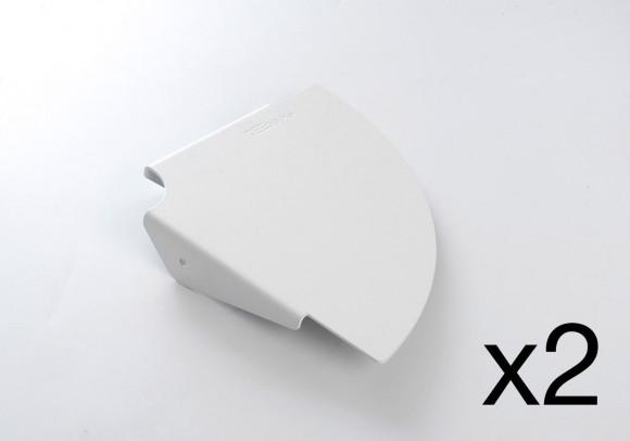 Mensola angolare TEEgolo 24 cm - Set di 2 - Acciaio