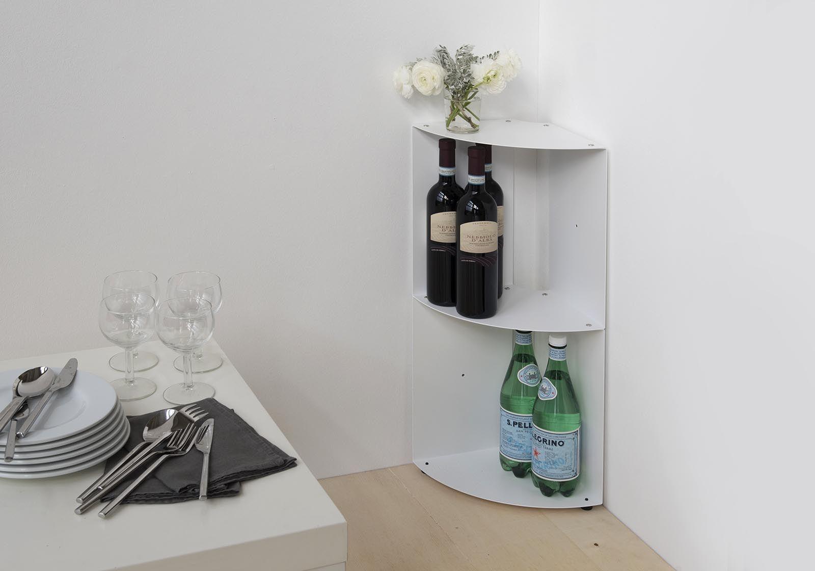 corner shelf dangolo steel 25x25x70cm