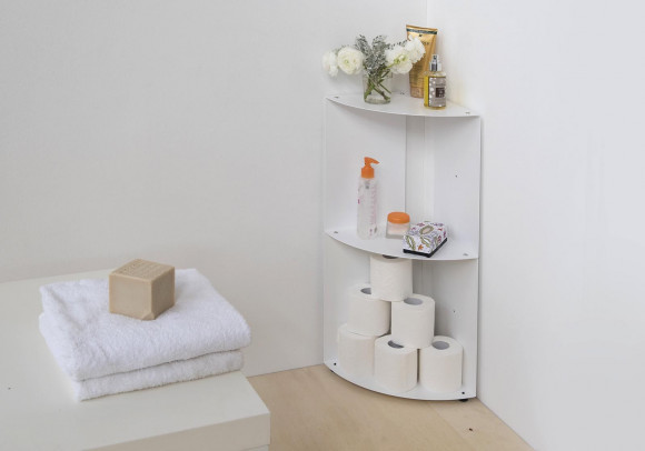 Bathroom corner shelf 9,8 x 9,8 x 27,5 inch