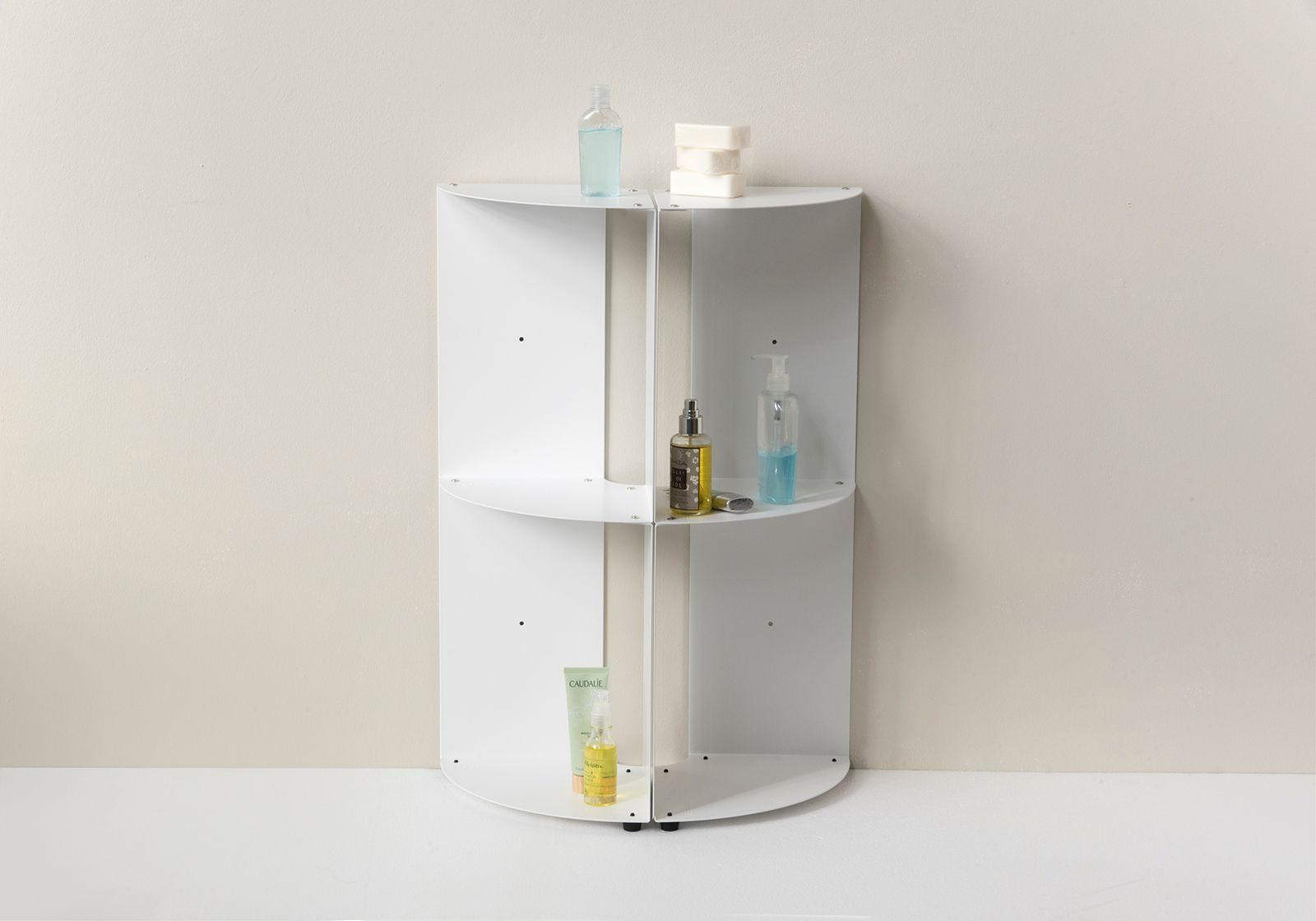 Bathroom Corner Shelf Dangolo Steel 25x25x70cm