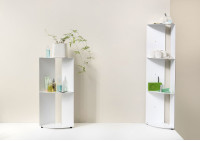 Mensole d'angolo per cucina DANgolo - Acciaio - 25x25x70cm