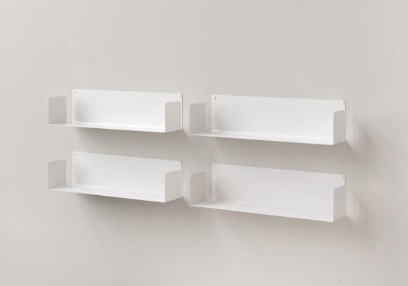"Mensola modulare ""U"" - 60 cm - Set di 4 - Acciao"