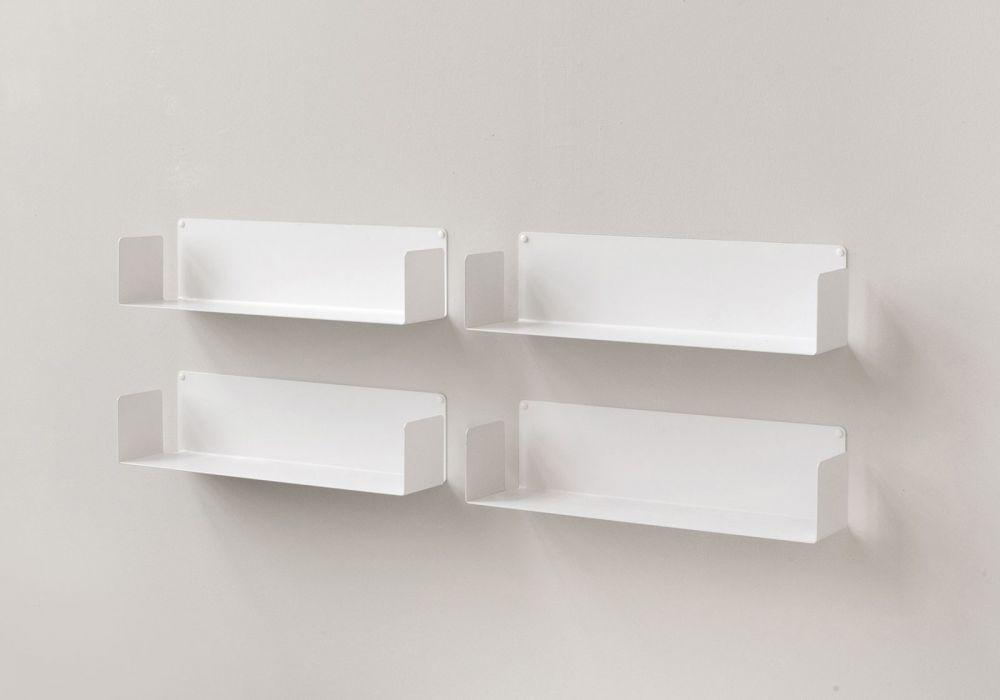 """Modulares Regalsystem """"U - Satz von 4  - 60 cm - Stahl"""