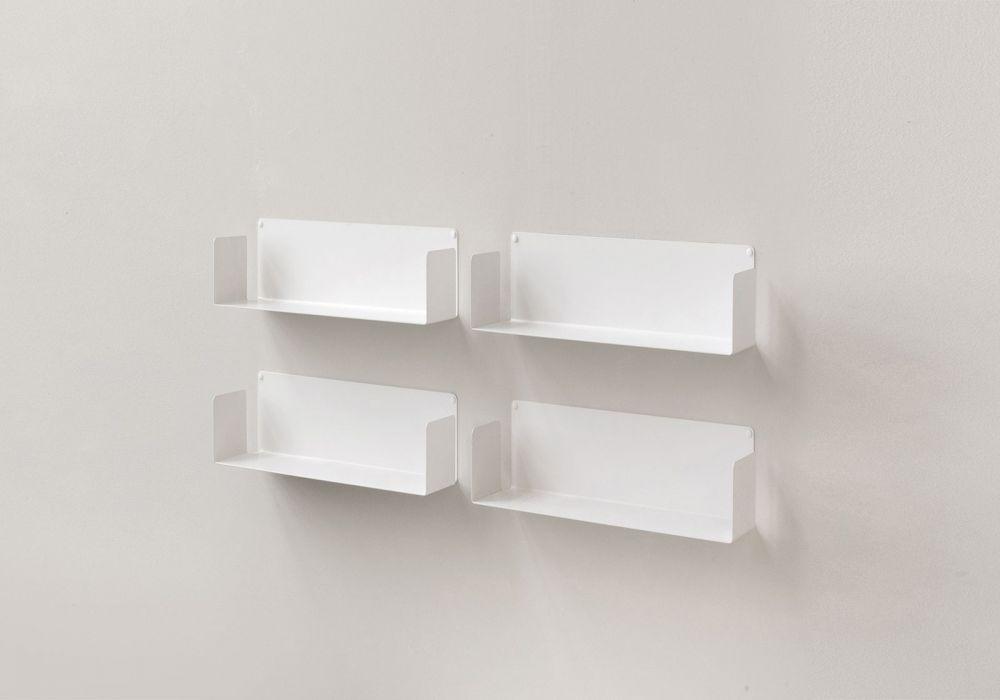 """Mensola modulare """"US"""" - 45 cm - Set di 4 - Acciao"""
