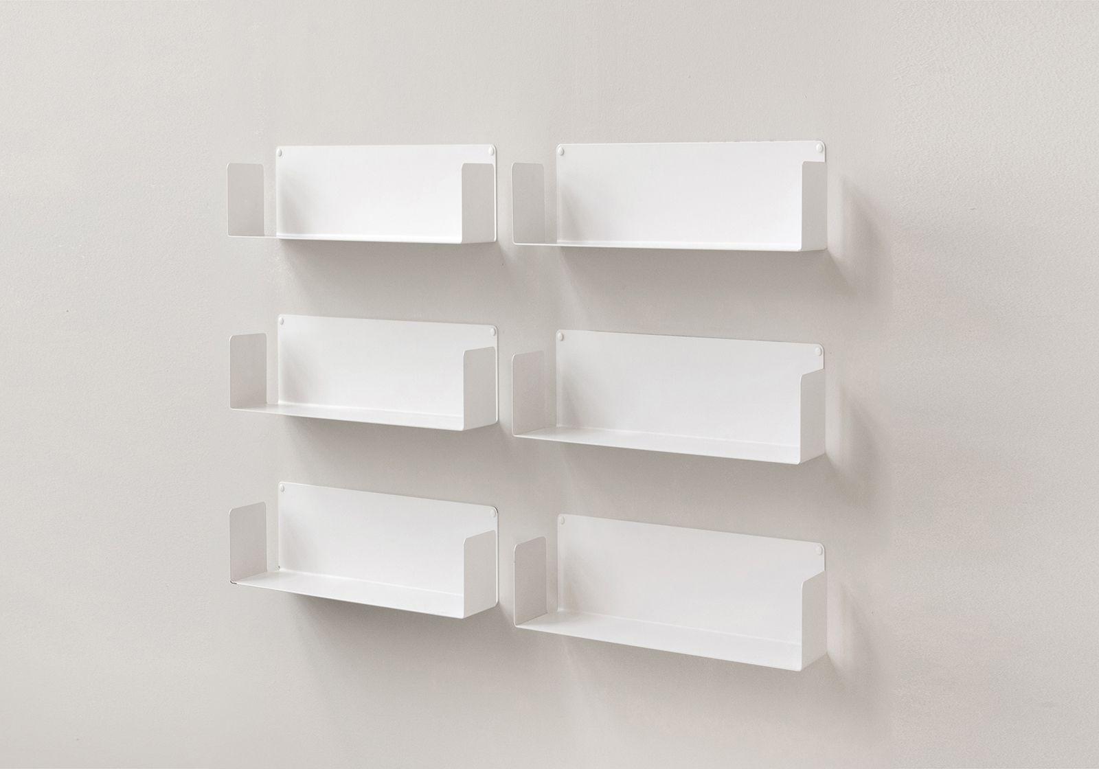 """Floating shelves """"US"""" - 45 cm - Set of 6"""