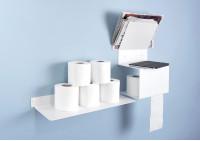 Porta carta igienica - Acciaio - Bianco - 37,5x15x22cm