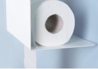 Toilettenpapierhalter TEElette - Stahl - Weiß - 37,5x15x22cm