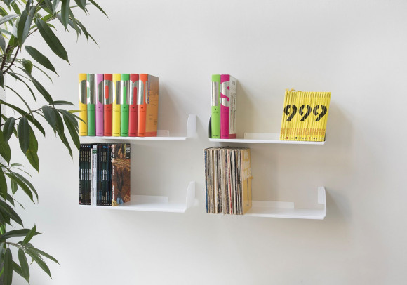 Wall Bookshelf 60 x 25 cm - Set of 4