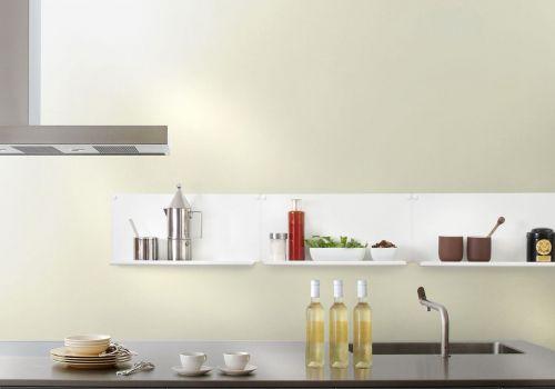 """Étagère murale de cuisine """"LE"""" - lot de 4 - 45x10 cm - Acier - Blanc"""