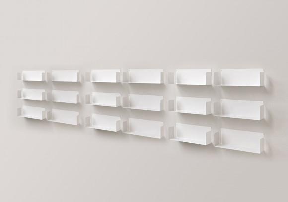 """Modulares Regalsystem """"U"""" - Satz von 18 - 60 cm - Stahl"""