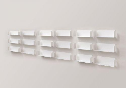 """Estantes de pared """"U"""" - 60 cm - Juego de 12"""