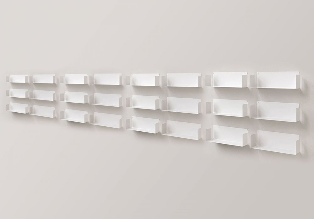 "Mensola modulare ""U"" - 60 cm - Set di 18 - Acciao"
