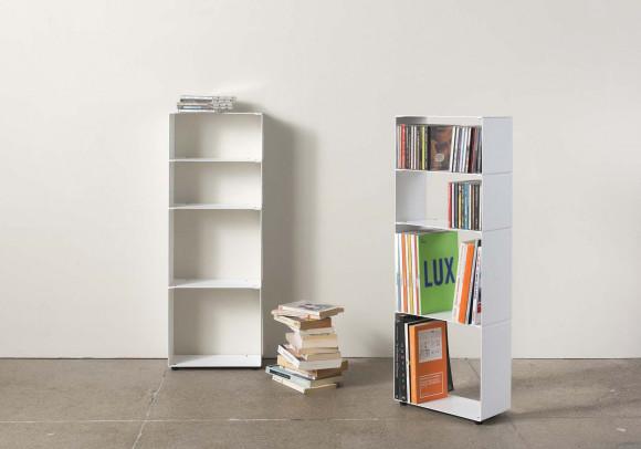 Bibliothèque livre cd 4 niveaux 30x80x15 cm
