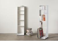 Bibliothèque livre, cd, vinyle 5 niveaux 30x115x15 cm