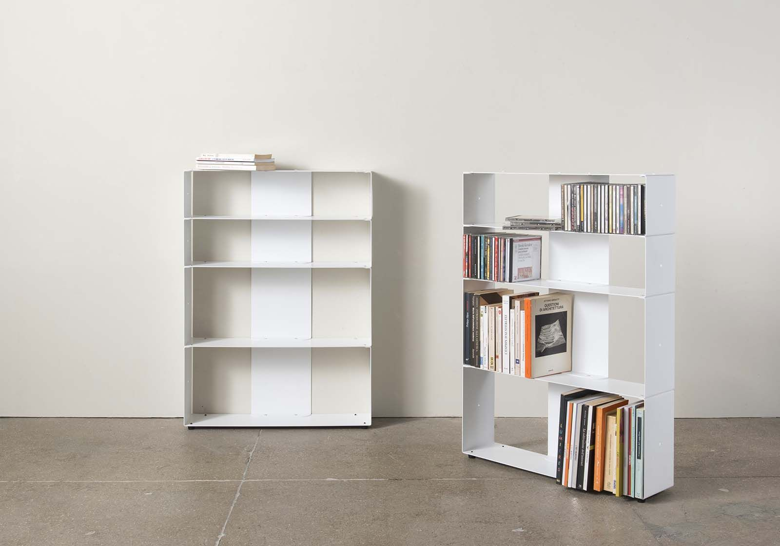 biblioth que design 60 cm livre et cd 4 niveaux. Black Bedroom Furniture Sets. Home Design Ideas