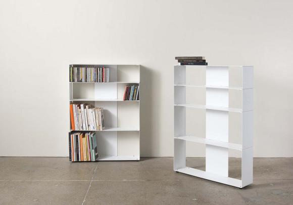 Libreria design per libri & cds L60 H80 P15 cm - 4 livelli