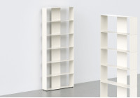 Metal Bookcase W60 H150 D15 cm - 6 shelves