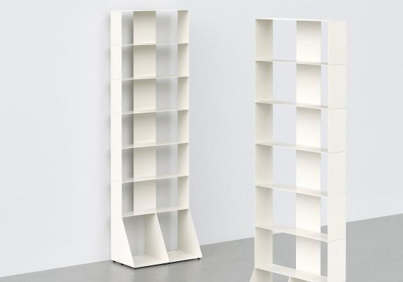 Bücherschrank weiß 7 ablagen B60 H185 T15 cm