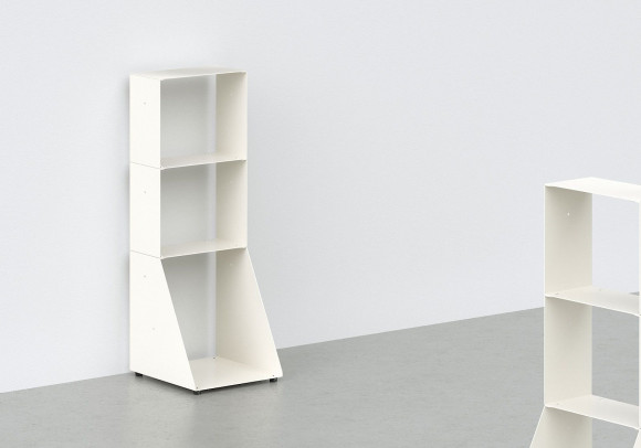 White Bookcase W30 H85 D32 cm - 3 shelves