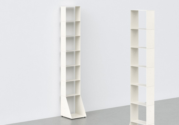 Narrow Bookcase W30 H185 D32 cm - 7 shelves