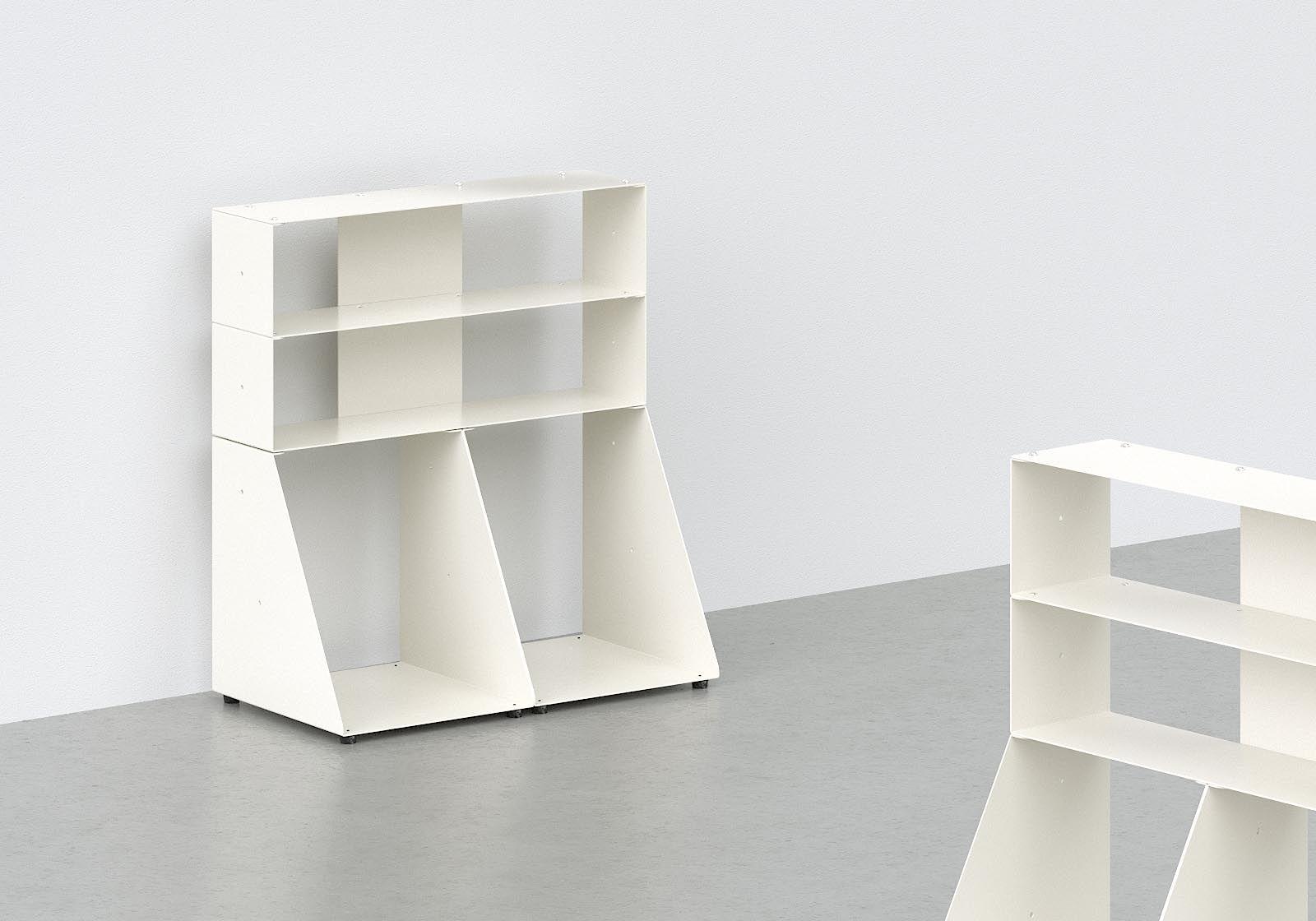 range cd et vinyle 60 cm m tal blanc 3 niveaux. Black Bedroom Furniture Sets. Home Design Ideas