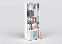 Libreria design 60 cm - metallo bianco - 5 livelli