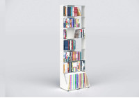Tall bookcase white W60 H185 D32 cm 7 shelves