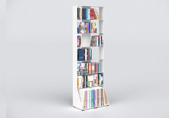 Estanterais librerias 60 cm - metal blanco - 7 niveles