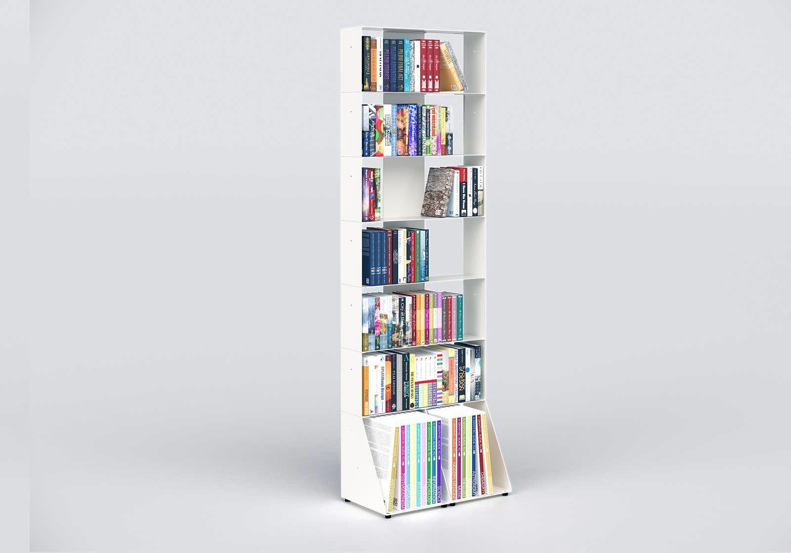 Librerias muebles 60 cm - metal blanco - 7 niveles