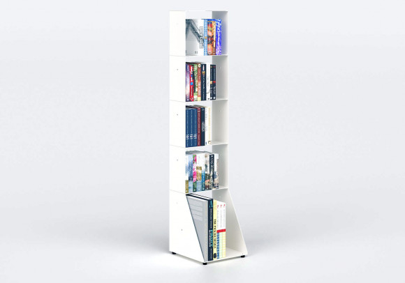 Narrow Bookcase W30 H135 D32 cm - 5 shelves
