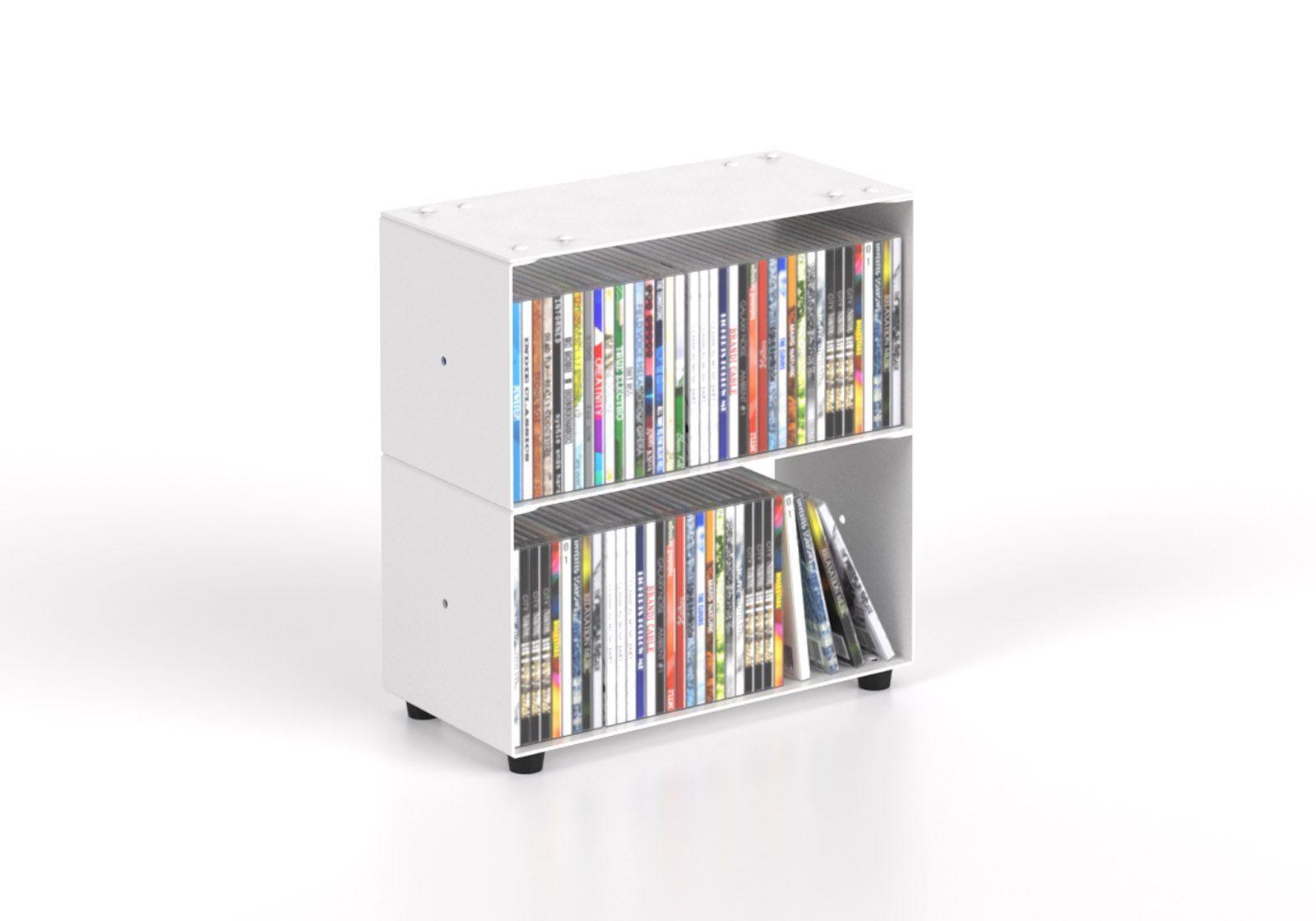 Cd storage W30 H30 D15 cm - 2 shelves
