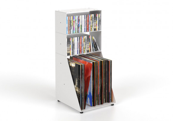 Cd & vinyl storage W30 H65 D32 cm - 3 shelves