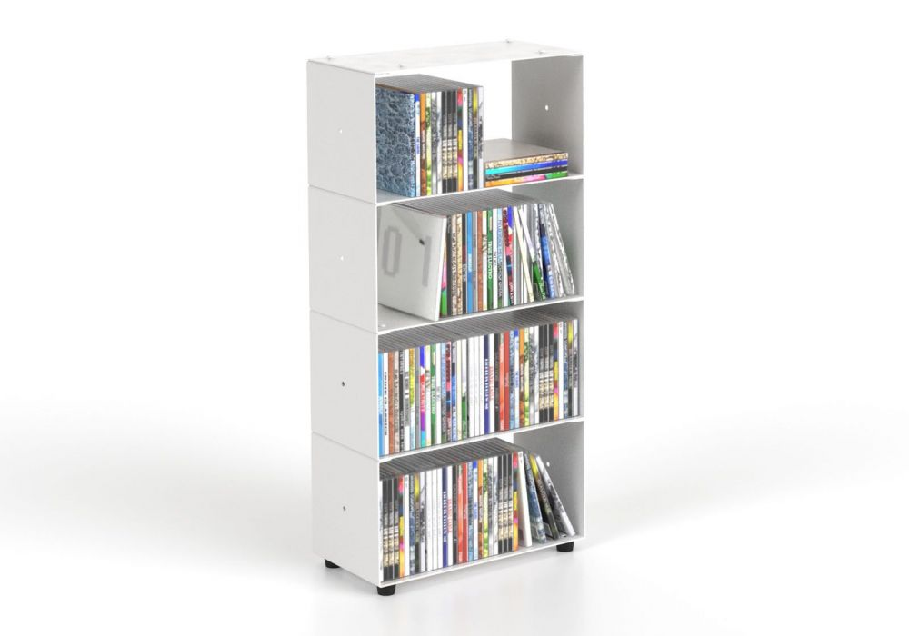 Cd storage W30 H60 D15 cm - 4 shelves
