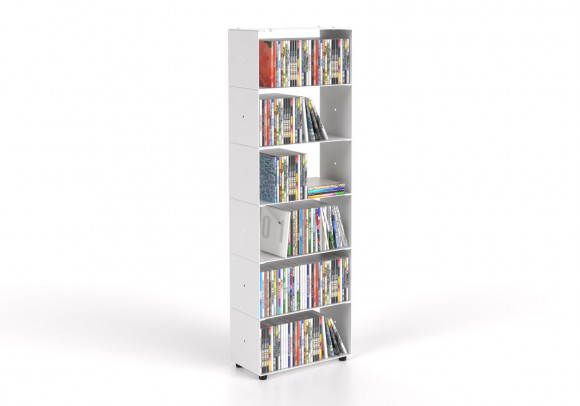 CD storage W30 H90 D15 cm - 6 shelves