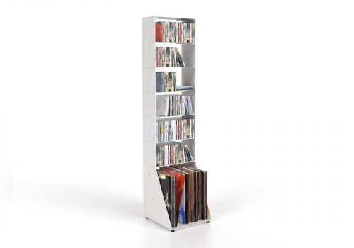CD & vinyl storage W30 H125 D32 cm - 7 shelves