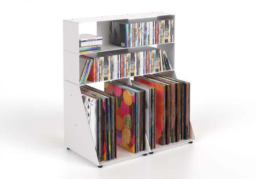 Cd & vinyl storage W60 H65 D32 cm - 3 shelves