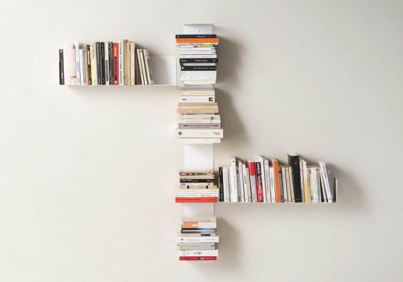 Bibliothèque design - Étagère livre Chicane