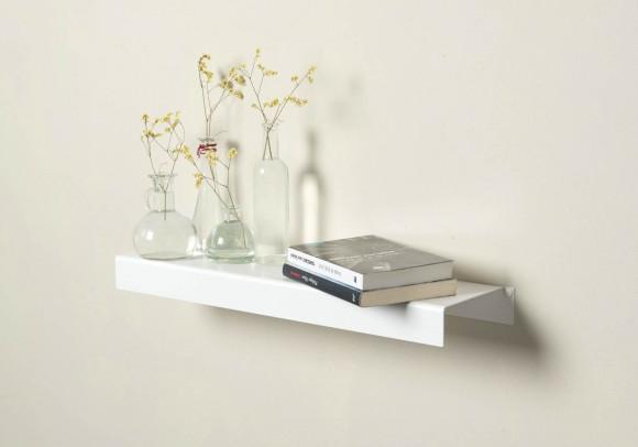 Scaffale a parete - bianco in acciaio 60 cm