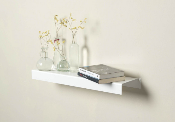 Wall Shelf - white metal 60 cm