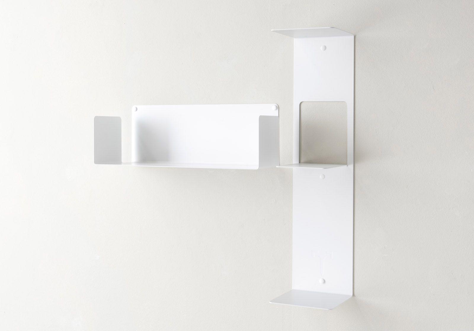 "Asymmetrisches Regal ""T"" LINKS - 60x60 cm - Stahl"