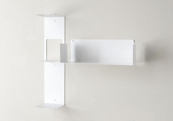 "Mensola modulare ""T"" asimmetrica DESTRA - 60x60 cm - Acciao"