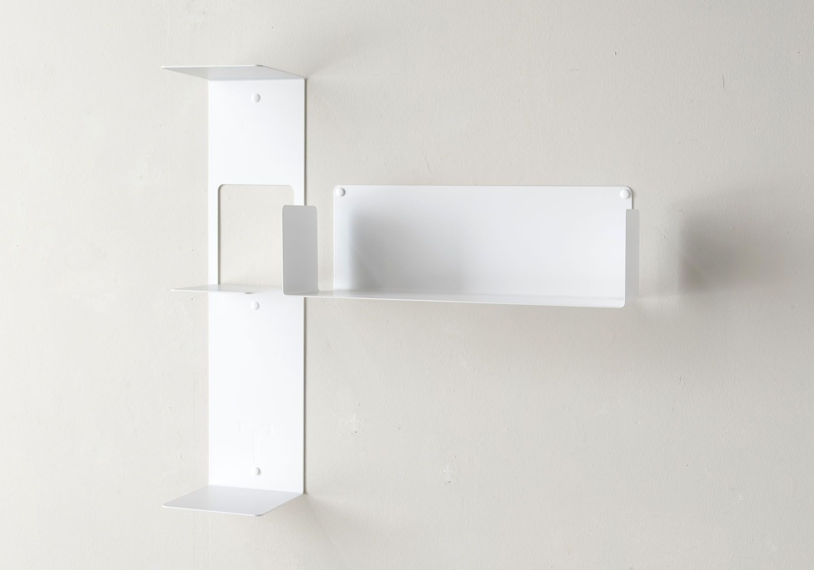 asymmetrical floating shelf t right