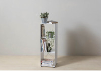 Cube shelf - Steel column storage - 2 shelves