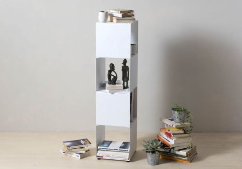 Mensola cubo - Mobile colonna in acciaio - 4 livelli