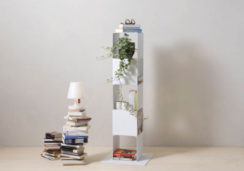 Cube shelf - Steel column storage - 5 shelves