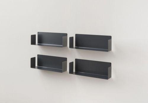 "Mensola modulare ""US"" - 45 cm - Set di 4 - Acciaio"