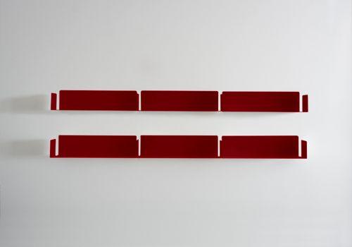 "Bücherregal Design ""LINEAIRE"" Rot"