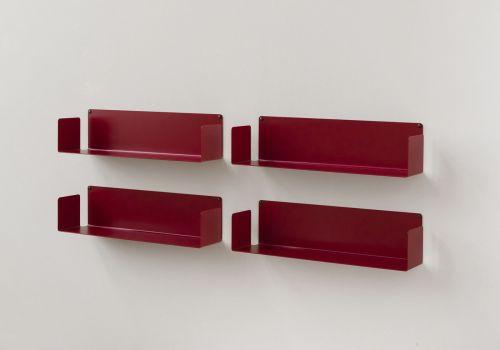 """Mensole per libri """"U"""" - Set di 4 - 60 cm - Acciaio"""