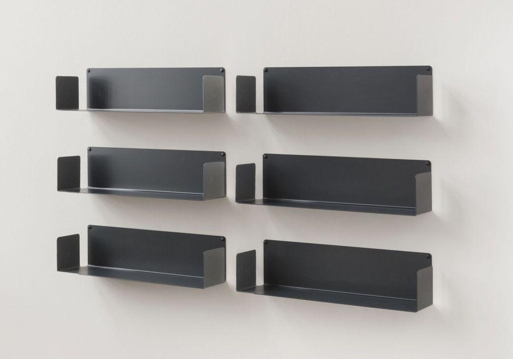 """Bücherregale """"U"""" - Satz von 6 - 60 cm - Stahl"""